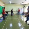 """A oficina """"Esporte é Vida. Reciclar, também"""" foi conduzida pelo diretor técnico da Federação Sergipana de Badminton e educador de esportes, em Aracaju/SE, Evandro Sandro de Mello Bonfim, e Sheila Silva de Oliveira, graduada em Educação Física; pós-graduanda em Docência e Prática da Meditação."""