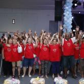 Florianópolis, SC —Os idosos atendidos peloprograma Vida Plena fizeram uma belíssima apresentação musical aos participantes da confraternização.