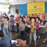Anápolis, GO — Com apresentação de dança, crianças atendidas pela LBV comemoram a inauguração das novas instalações da LBV na cidade.