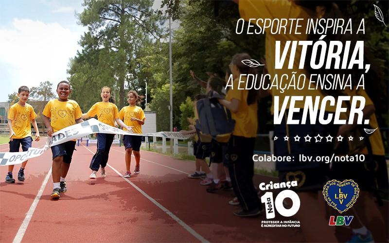 O esporte inspira a vitória, e a educação ensina a vencer