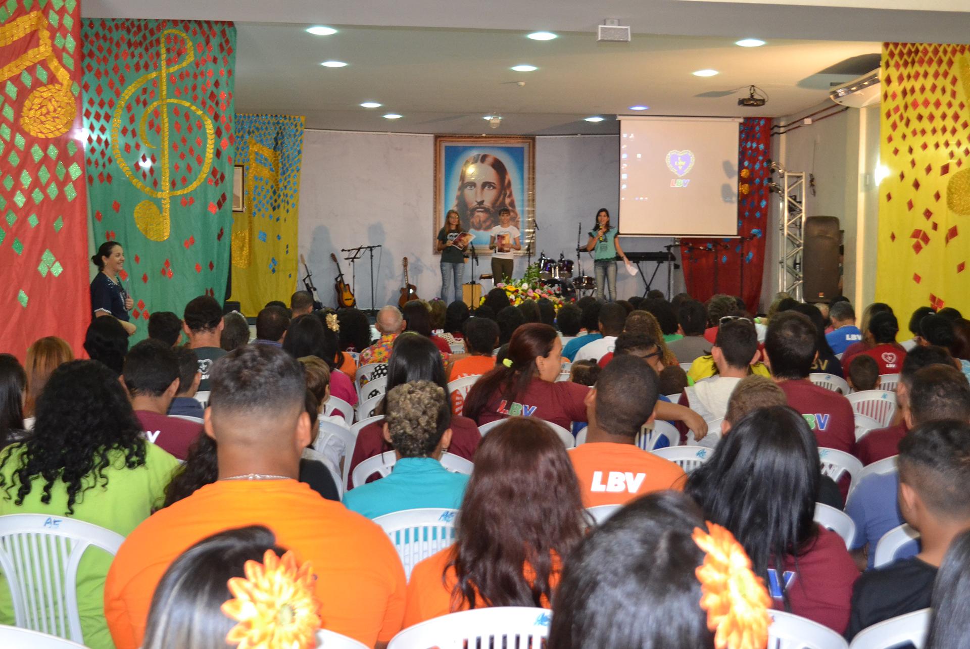Recife, PE —Vista parcial do público durante as Rodas Espirituais e Culturais, da LBV. Na ocaisão, estiveram presentes jovens dos Estados de Alagoas, Ceará, Bahia, Paraíba e Rio Grande do Norte.