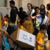 Familias reciben sus Cajas de Navidad en la Escuela Infantil Jesús (Bogotá 3940 CABA).