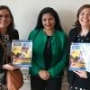 Nova York, EUA — Ao centro, a sra. Lakshmi Puri, vice-diretora executiva da ONU Mulheres, e suaassessora Patricia Cortes, recebem de Adriana Parmegiani, da LBV (D), a publicação em inglês da revista BOA VONTADE Mulher.