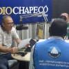 CHAPECÓ, SC — Equipe da Religião Divina participa da programação da Rádio Chapecó. O programa transmitiu a Mensagem Fraterna do Irmão Paiva Netto.