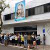 Porto Alegre, RS — Vista parcial dopúblico presenteminutos antes de ser decerradaa faixa de inauguração da Igreja Ecumênica da Religião Divina de Porto Alegre.