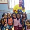 Mesquita, RJ: Ângela Veronica, articuladora do programa de Assessoramento da LBV no RJ, durante a entrega dos Kits Pedagógicos às crianças atendidas pelo Instituto Mundo Novo, em Mesquita, por meio do projetoMundo Encantado para Crianças. Asturmas do pré 1 e pré 1, de 2 a 5 anos foram presenteadas com o kit \o/
