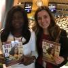 À esquerda, a dra. Nchiewe Ani , Presidente/Fundadora da Pink Africa Foundation, da Nigéria. Ao lado, Sâmara Malaman, da LBV.