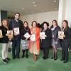 A delegação do Brasilchefiada pela Secretária Especial de Políticas para as Mulheres, sra.Fátima Pelaes (de blusa laranja), recebeu os cumprimentos deDanilo Parmegiani, representante da LBV nas Nações Unidas.