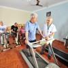Volta Redonda/RJ — A LBV dispõe de um espaço com equipamentos para a reabilitação dos idosos nas dependências do Lar. Eles são acompanhados pela equipe de fisioterapia.