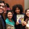Patricia Mars (a terceira, da esquerda à direita), sócia da ONG There is No Limit Foundation, na qual trabalha com programas e parcerias, recebeu a mensagem da LBV.
