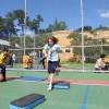 """São Paulo, SP — Na oficina """"Disciplina e saúde, essa é a hora"""", os Soldadinhos de Deus, da LBV, aprenderam a importância de ter uma vida saudável e praticaram diversas atividades esportivas."""