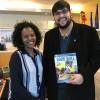 Nova York, EUA — Hanna Denekew, membro da Seção de ONGs do Ecosoc, e Danilo Parmegiani, da LBV.