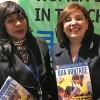 Nova York, EUA — Diawara Diaoule (E), membro da Delegação dos Camarões, com Adriana Parmegiani, da LBV.