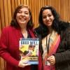 Nova York, EUA — Shanchita Haque (D), conselheira da Missão Permanente de Bangladesh na ONU, recebe a publicação da LBV.