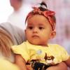 Ribeirão Preto, São Paulo — Soldadinho de Deus, da LBV,Antonella do Nascimento Soares, 7 meses, também esteve presenta com sua família no evento.