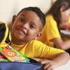 ANANINDEUA, BRASIL - Niño Nota 10 — ¡Sin Educación no hay Futuro!: La acción beneficia económicamente a los padres que no disponen de recursos para comprar el material escolar. Al inicio del año lectivo, se entregan más de 14 mil kits de material pedagógico a los niños y a los adolescentes que frecuentan las escuelas de la Institución.