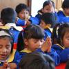 LA PAZ, BOLIVIA - Los atendidos por la LBV hacen una oración en un gesto de gratitud y de fortalecimiento del Espíritu.