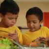 MANAUS, BRASIL - El menú, hecho por profesionales especializados, es adecuado para cada grupo de edad, visando el desarrollo pleno de los pequeños. En la LBV, los niños aprenden desde pequeños la importancia de no desperdiciar los alimentos. El tema también es tratado en las salas de actividades en lenguaje lúdico y didáctico.