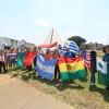 Los peregrinos de varios países asistieron a las celebraciones de los 28 años de Templo de la Paz.