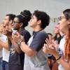 """Rio de Janeiro, RJ — Juventude legionária se reúne para dia de apresentações culturais e atividades em torno dotema """"A urgência de viver o 'Amai-vos como Eu vos amei', de Jesus""""."""