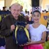Natal, RN - Jornalista Gildo da Costa Dantas prestigiou a entrega de material pedagógico às crianças da LBV