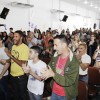 RIO DE JANEIRO, RJ — Vista parcial do público vibrando com o alto-astral de Jesus, durante as Rodas Espirituais e Culturais, da LBV.