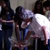 Rio de Janeiro/RJ— Jovens participam deCerimônia Ecumênica de Batismo Espiritualdo Jovem da Boa Vontadede Deus.Nela, os jovens recebem as bênçãos da Religião Divina etêm a oportunidade de reafirmar o seu compromisso nos Ideais Fraternos e Ecumênicos da Religião do Terceiro Milênio, firmados no Amor e nos exemplos de Jesus. É o seu compromisso com o Bem, em construir com as suas atitudes, um mundo melhor.(Foto: Vivian R. Ferreira)