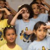 Duque de Caxias, RJ— Crianças se divertem e participam de atividades e apresentações no 17º Fórum Internacional dos Soldadinhos de Deus, da LBV.