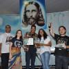 Salvador, BA —Em 3º lugar no Festival Internacional de Música, da LBV, o jovem legionário, João Carlos Conceição.