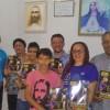 FORTALEZA, CE — O casal Michele e Antônio Matos reúne a família para mais um estudo ecumênico da Cruzada do Novo Mandamento de Jesus no Lar.