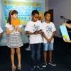 """Florianópolis,SC—Na atividade """"Cartas para o Futuro"""", a equipe das Aulas de Moral Ecumênica irá guardar, até 2021, os textos que registram as expectativas dos pequenos para um mundo de Paz."""