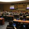 Nova York, EUA — Vista parcial do Plenário da ONU, que recebe — de 13 a 24 de março — a 61ª Sessão da Comissão sobre a Situação da Mulher, com a presença de líderes e representantes mundiais para debater o empoderamento feminino.
