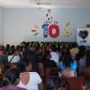 Dourados, MS - Vista parcial do público presente na cerimônia de entrega dos kits pedagógicos da campanha Criança Nota 10 — Proteger a infância é acreditar no futuro.
