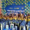 Ananindeua /PA- Felizes, meninas e meninos atendidos pela Legião da Boa Vontade recebem kits de material pedagógico e escolar, arrecadados por meio da campanha Criança Nota 10 — Proteger a infância é acreditar no futuro!.