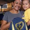 Belém/PA -Para a sra. Rosana da Costa, mãe da pequena Tayná Laiffer, atendidas pela Legião da Boa Vontade, o kit será um grande incentivo para os estudos da filha: