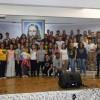 Uberlândia, MG - No Altar Sagrado da Religião Divina, os participantes do Festival Internacional de Música, da LBV.