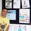 Americana, SP — Daividy de Lima Alves ficou super feliz ao apresentar o trabalho realizado durante as atividades do 17ºFórum Internacional do Soldadinhos de Deus, da LBV.