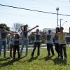 Campinas, SP— Jovens de todas as idades realizaram a Campanha de Entronização do Novo Mandamento de Jesus nos Corações de Boa Vontade na manhã de 1º de Julho.