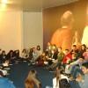 CURITIBA, PR — Jovens Legionários com muita energiase reúnem para o estudo ecumênico das palavras de Jesus,durante o Encontro Jovem de Boa Vontade.