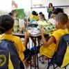 Recife, PE - A campanha Criança Nota 10! disponibiliza aos atendidos kits de material pedagógico com cadernos, lápis de cor, canetas, dicionários e vários outros itens para o dia a dia na escola.