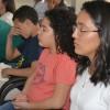 Belo Horizonte, MG - Momento ecumênico de prece para a abertura do evento, na Igreja Ecumênica da Religião de Deus, do Cristo e do Espirito Santo.