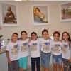 RIBEIRÃO PRETO, SP — As crianças registram sua felicidade em participar do 16º Fórum Internacional dos Soldadinhos de Deus, da LBV.