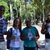 Juventude Ecumênica da Boa Vontade de Deusentregapanfletos a pedestres na praça Campo Grande.