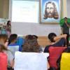 """Belo Horizonte, MG —Enquanto as crianças participavam das oficinas lúdicas, os pais assistiam a uma palestra com o tema: """"A importância doBom Incentivo para os Soldadinhos de Deus, da LBV"""". :)"""