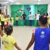 Salvador, BA — E para iniciar as atividades do 17° Fórum Internacional dos Soldadinhos de Deus, da LBV, as crianças se uniram fazendo um círculo para entrar em sintonia com Deus, por meio da Prece.