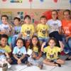 """Belo Horizonte, MG —Durante as atividades do 17º Fórum Internacional dos Soldadinhos de Deus, da LBV, o bem que as crianças praticam foi retratado na oficina """"Pintura Coletiva""""."""