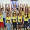 Salvador, BA — A alegria dos Soldadinhos de Deus, da LBV, marcou a oficina das crianças. :)