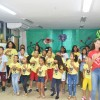 Salvador, BA — Durante as oficinas, as crianças ensaiaram a música tema do Fórum para apresentá-la na Igreja Ecumênica da Religião de Deus, do Cristo e do Espírito Santo.