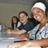 Salvador, BA - — Da esquerda para a direita, ajurada de conteúdo doutrinário,Andréa Souza,o jurado musicalJosé Nilton Tonin ea jurada de performance,Jedjane Mirte.