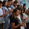 Belo Horizonte, MG — Jovens no Altar Sagrado, durante o Juramento de Fidelidade em ummomento de renovação espiritual.